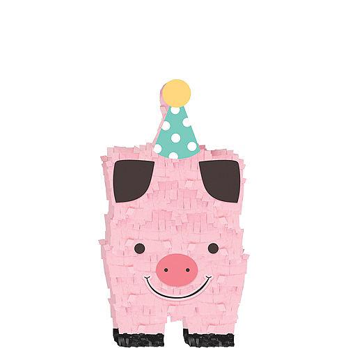 Mini Friendly Farm Pig Pinata Decoration Image #1