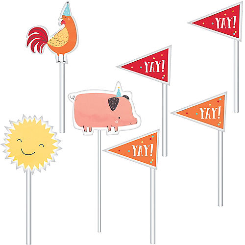 Friendly Farm Cake Toppers 12ct Image #1