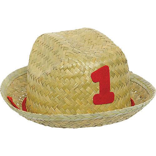 Mini 1st Birthday Straw Hat Image #1