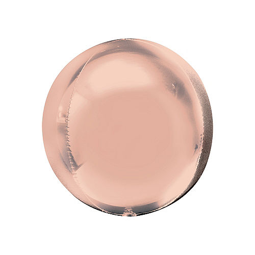 Rose Gold Orbz Balloon, 16in Image #1
