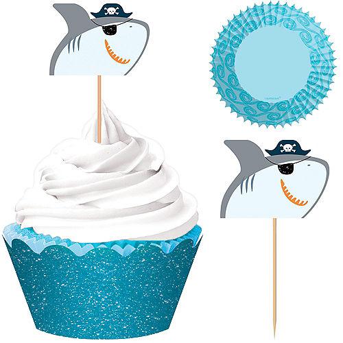 Pirate Shark Cupcake Kit for 24 Image #1