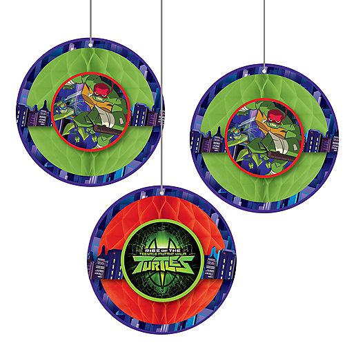 Rise of the Teenage Mutant Ninja Turtles Honeycomb Balls 3ct Image #1