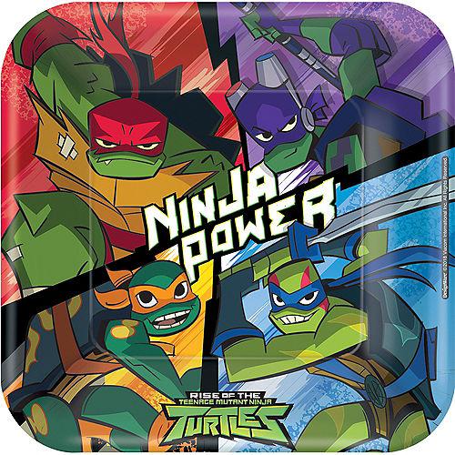 Rise of the Teenage Mutant Ninja Turtles Lunch Plates 8ct Image #1