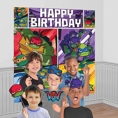 Rise of the Teenage Mutant Ninja Turtles Scene Setter with Photo Booth Props Image #1