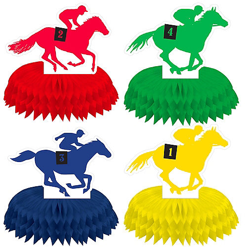 Mini Derby Day Honeycomb Centerpieces 4ct Image #1