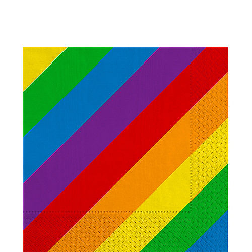 Rainbow Striped Lunch Napkins 16ct Image #1
