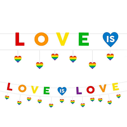 Love is Love Pride Letter Banner with Mini Banner Image #1