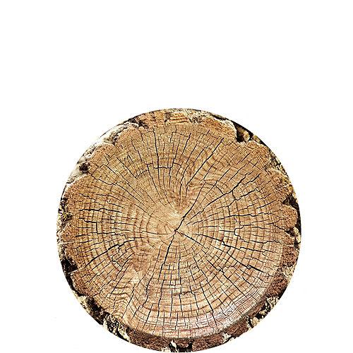 Cut Timber Dessert Plates 8ct Image #1