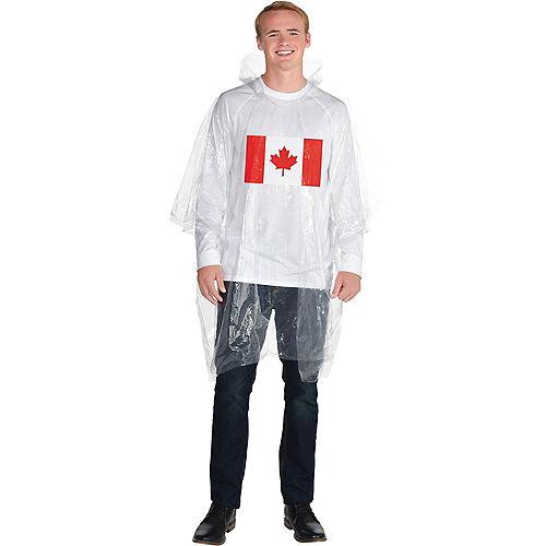 Canadian Flag Poncho Image #1