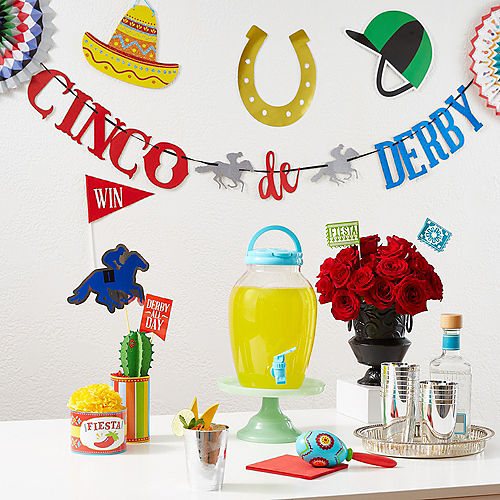 Glitter Cinco De Derby Letter Banner Image #2