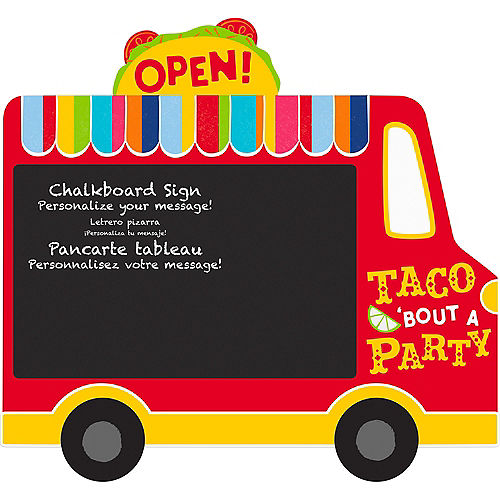 Taco Truck Chalkboard Easel Sign Image #1
