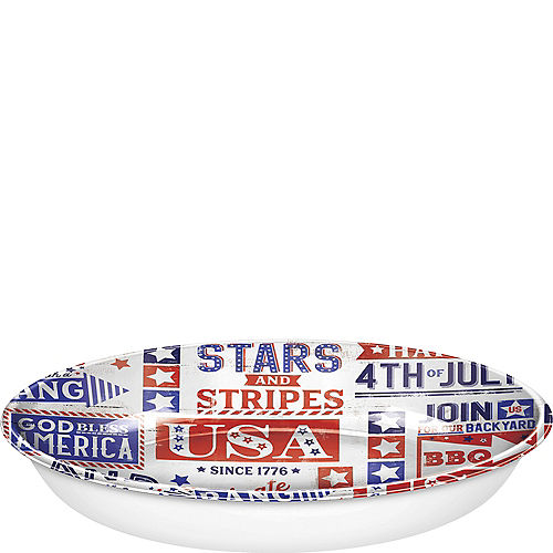 Patriotic Red, White & Blue 4th of July Serving Bowl Image #1