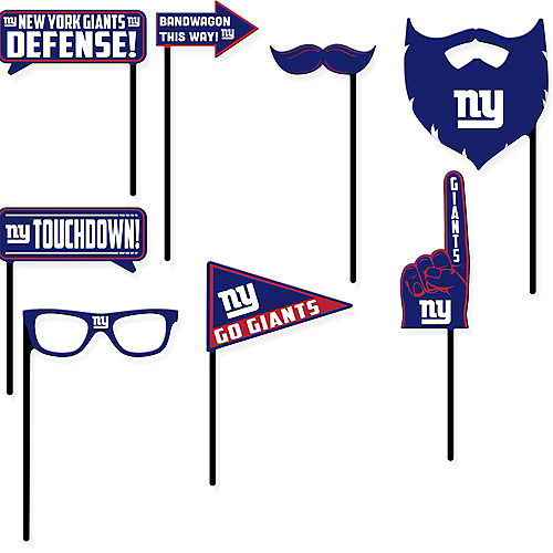 New York Giants Photo Booth Props 9ct Image #1