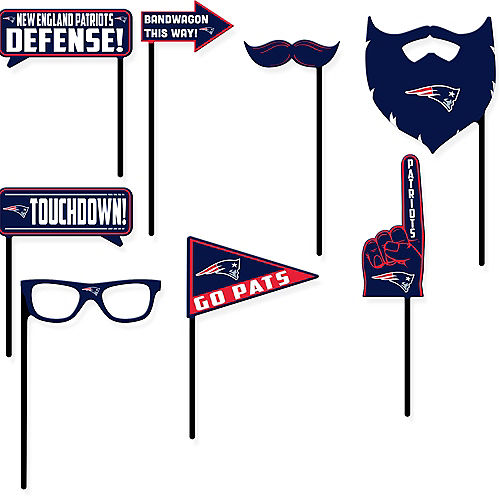 New England Patriots Photo Booth Props 9ct Image #1