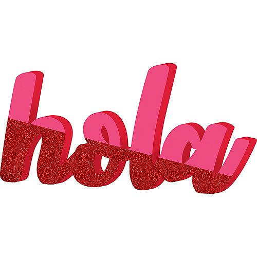 Glitter Hola Block Letter Sign Image #1