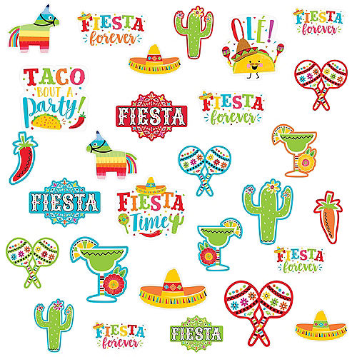 Fiesta Time Cutouts 30ct Image #1