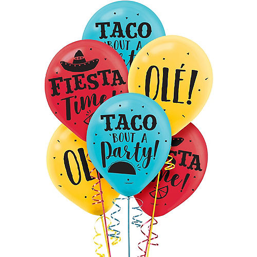Fiesta Time Balloons 15ct Image #1