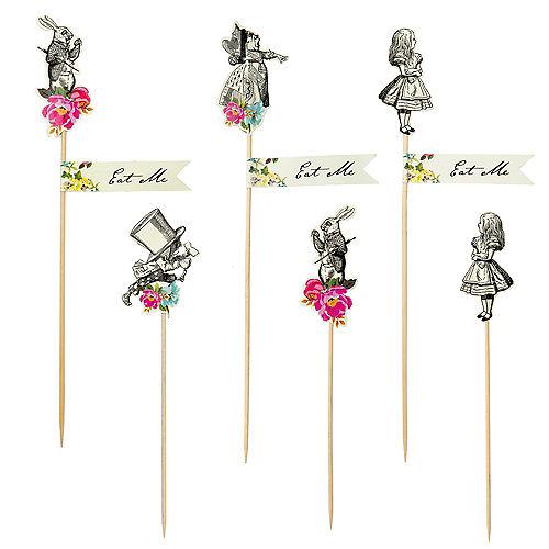 Alice in Wonderland Party Picks 12ct Image #1