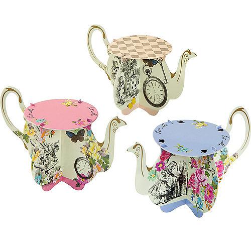 Alice in Wonderland Teapot Cake Stands 6ct Image #1