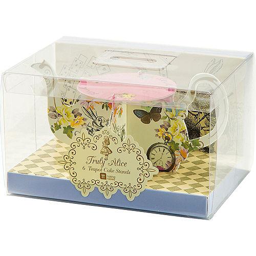 Alice in Wonderland Teapot Cake Stands 6ct Image #3