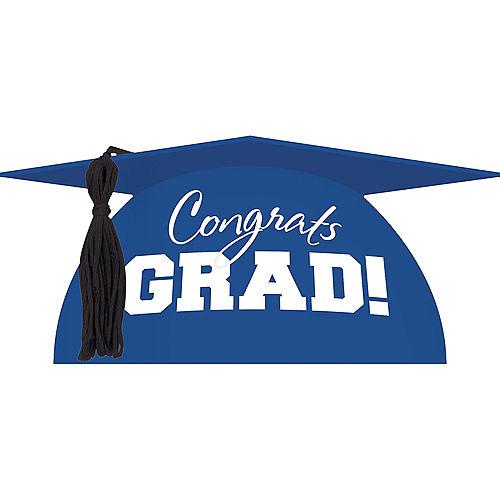 Blue Graduation Cap Cake Topper Image #1