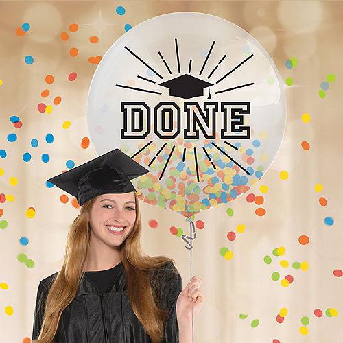 Multicolored Graduation Confetti Balloon Image #1