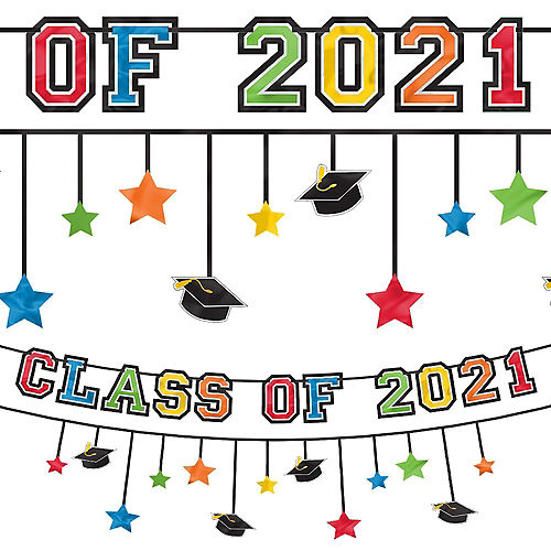 Multicolor Graduation Banner with Mini Banner Image #1