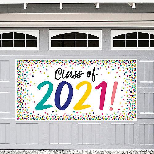 Yay Grad Class of 2021 Graduation Plastic Banner Image #1