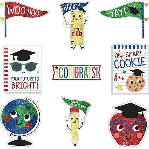Glitter Future Dreamer Graduation Cutouts 9ct Image #1