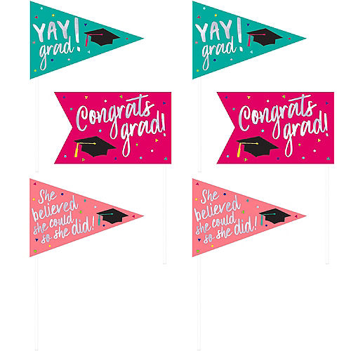 Yay Grad Pennant Flags 6ct Image #1