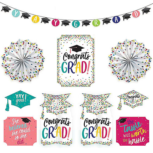 Yay Grad Room Decorating Kit 10pc Image #1