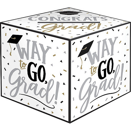 Black & White Way to Go Grad Card Holder Box Image #1