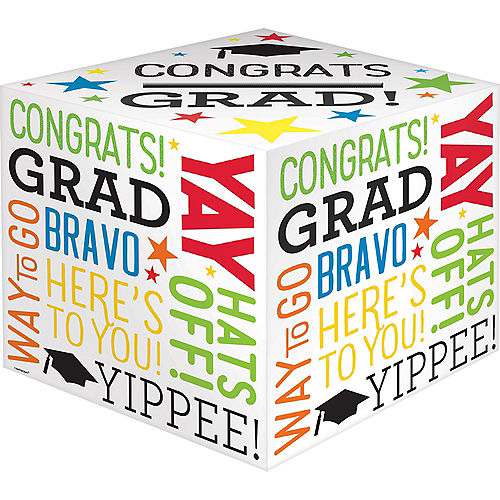 Multicolor Congrats Grad Card Holder Box Image #1