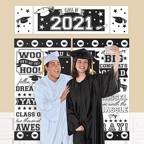 White 2021 Graduation Plastic Scene Setter Image #1