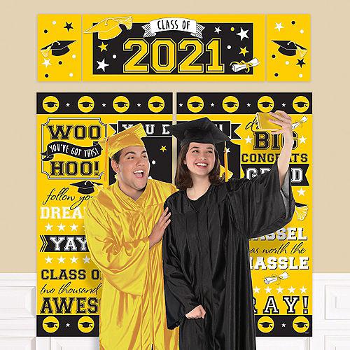 Yellow 2021 Graduation Plastic Scene Setter Image #1