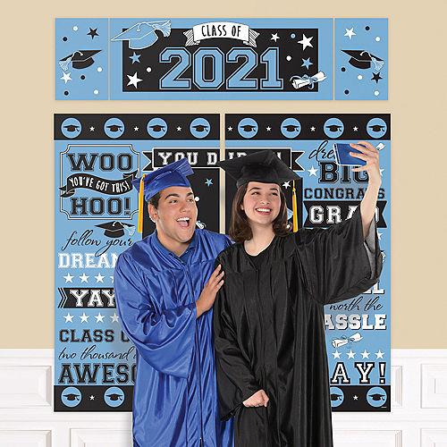 Blue 2021 Graduation Plastic Scene Setter Image #1