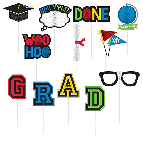 Graduation Photo Booth Props 12ct Image #1