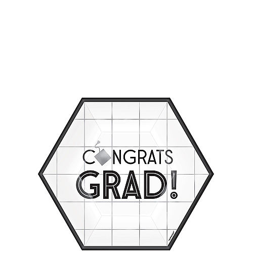 Grid Graduation Hexagon Dessert Plates 18ct Image #1