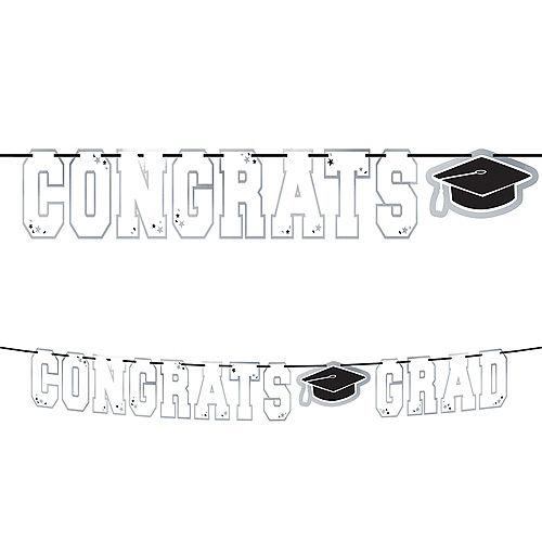 White Congrats Grad Letter Banner Image #1