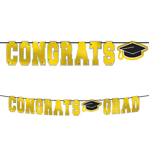 Yellow Congrats Grad Letter Banner Image #1