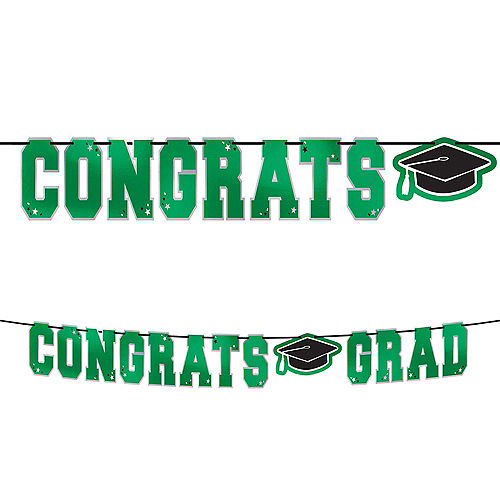 Green Congrats Grad Letter Banner Image #1