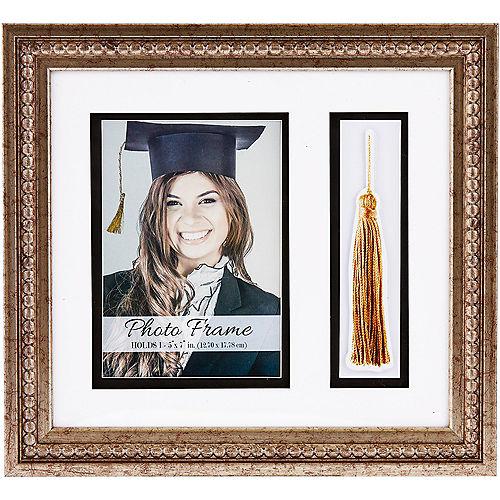 Gold Beaded Graduation Photo Frame & Tassel Holder Image #1