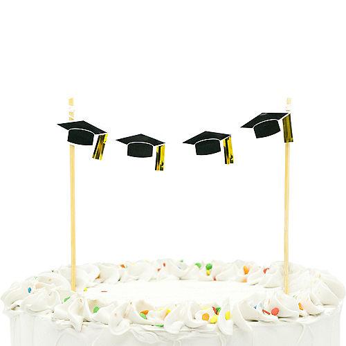 Graduation Cap Banner Cake Topper Image #1