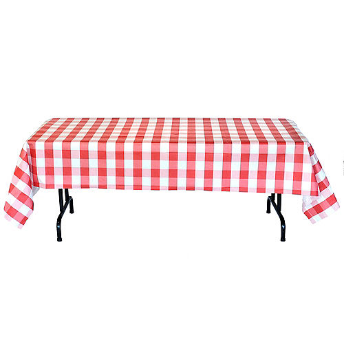 Red & White Plaid Table Cover Image #3