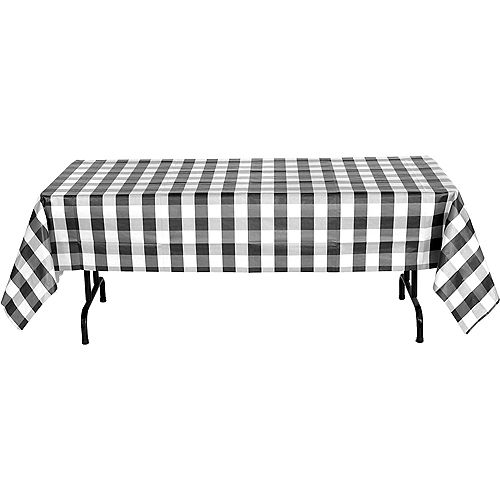 Black & White Plaid Table Cover Image #3