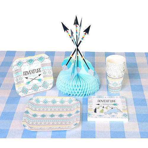 Light Blue & White Plaid Table Cover Image #2