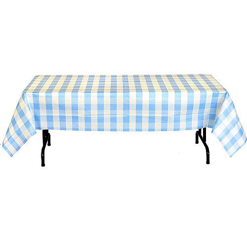 Light Blue & White Plaid Table Cover Image #3
