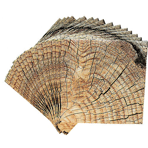 Cut Timber Beverage Napkins 16ct Image #2