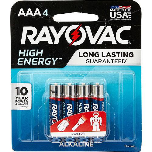 Rayovac High Energy Alkaline AAA Batteries 4ct Image #1
