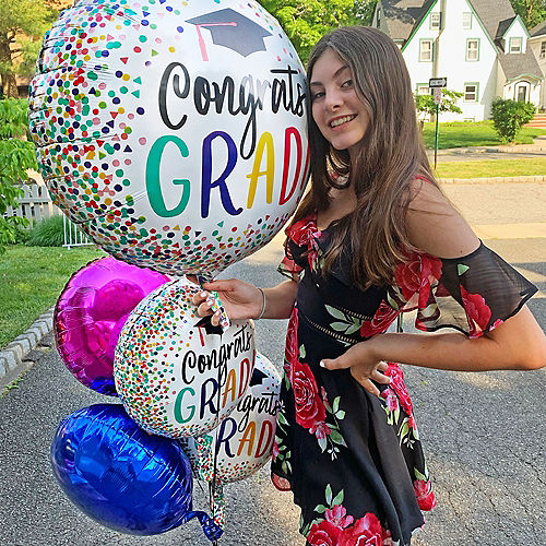 Yay Grad Balloon Bouquet 5pc Image #2